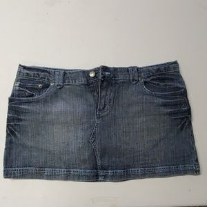 SO denim mini skirt with embroidered pockets 15